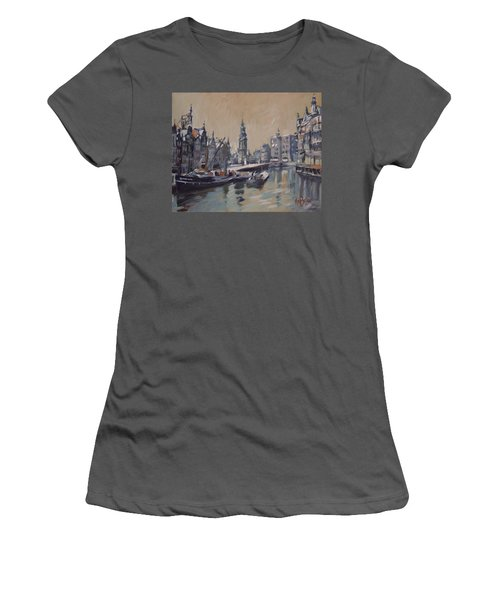 View To The Mint Tower Amsterdam Women's T-Shirt (Junior Cut) by Nop Briex