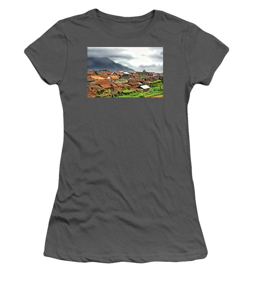 Women's T-Shirt (Junior Cut) featuring the photograph Village View by Charuhas Images