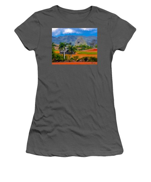 Vinales Valley. Cuba Women's T-Shirt (Athletic Fit)