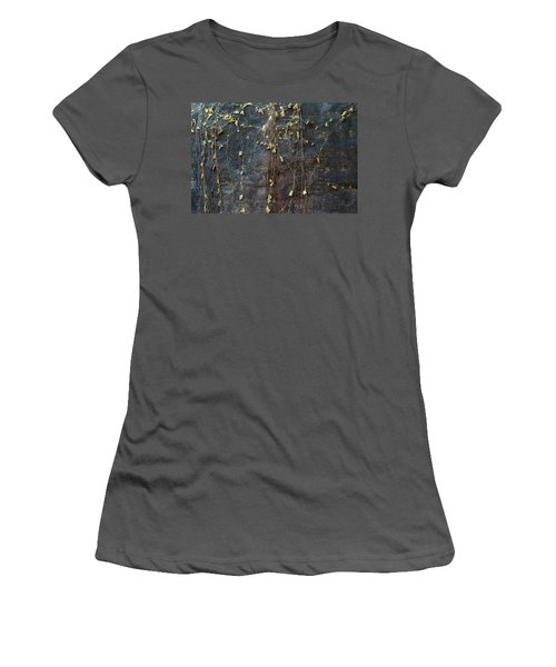 Women's T-Shirt (Junior Cut) featuring the photograph Vines On Rock, Bhimbetka, 2016 by Hitendra SINKAR