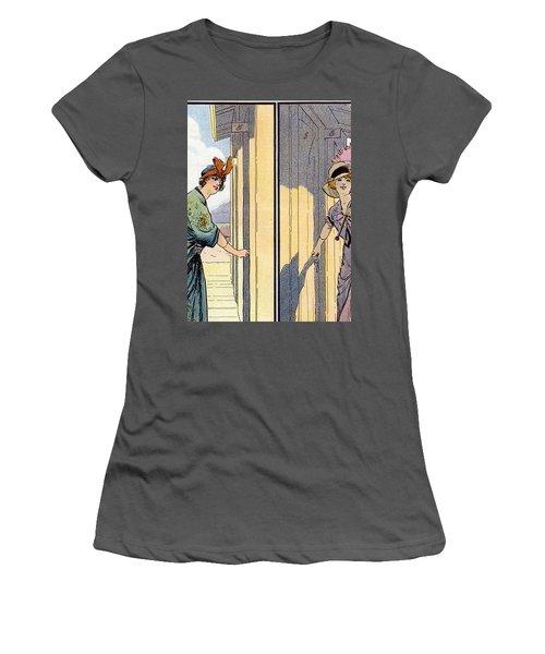 Vintage Art, Glamour Image Women's T-Shirt (Athletic Fit)