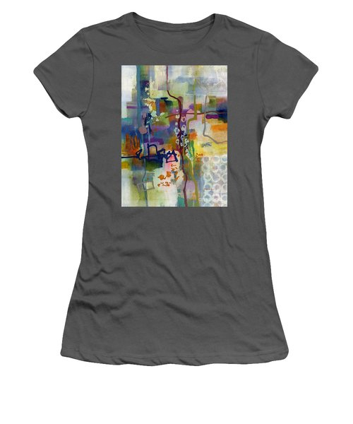 Women's T-Shirt (Junior Cut) featuring the painting Vintage Atelier 2 by Hailey E Herrera