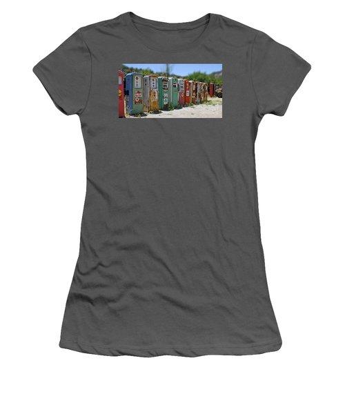 Vintage Gas Pumps Women's T-Shirt (Athletic Fit)