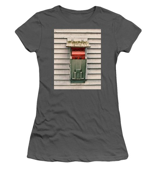 Women's T-Shirt (Athletic Fit) featuring the photograph Vintage Mailbox by Gary Slawsky