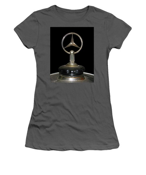 Women's T-Shirt (Junior Cut) featuring the photograph Vintage Mercedes Radiator Cap by David and Carol Kelly