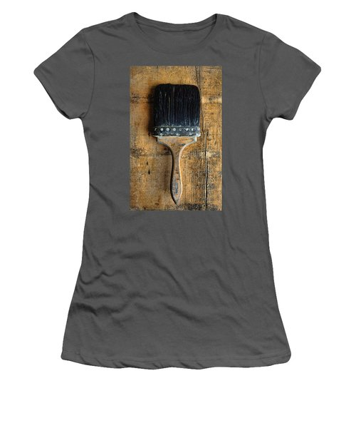 Vintage Paint Brush Women's T-Shirt (Athletic Fit)