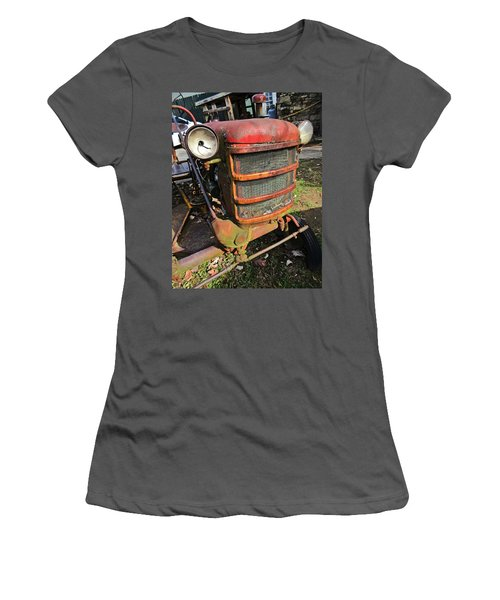 Vintage Tractor Mower Women's T-Shirt (Athletic Fit)