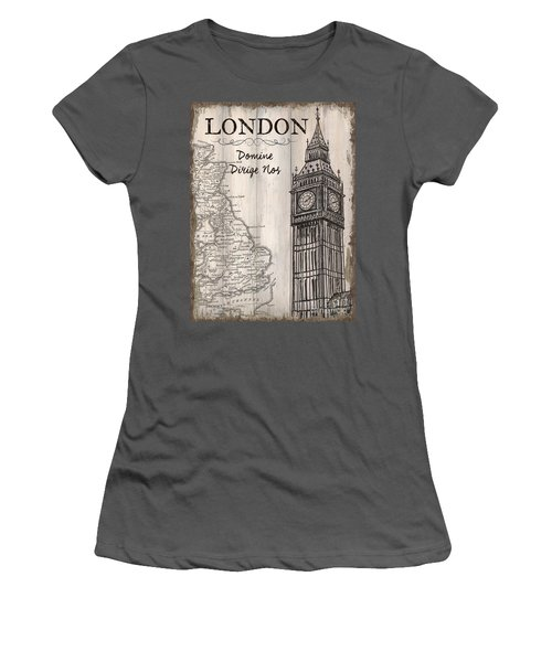 Vintage Travel Poster London Women's T-Shirt (Athletic Fit)