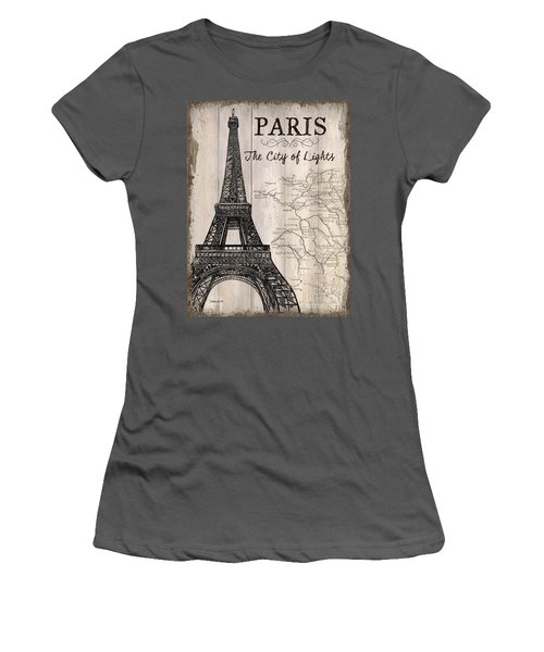 Vintage Travel Poster Paris Women's T-Shirt (Athletic Fit)