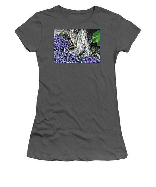 Violets At My Feet Women's T-Shirt (Junior Cut) by Sarah Loft