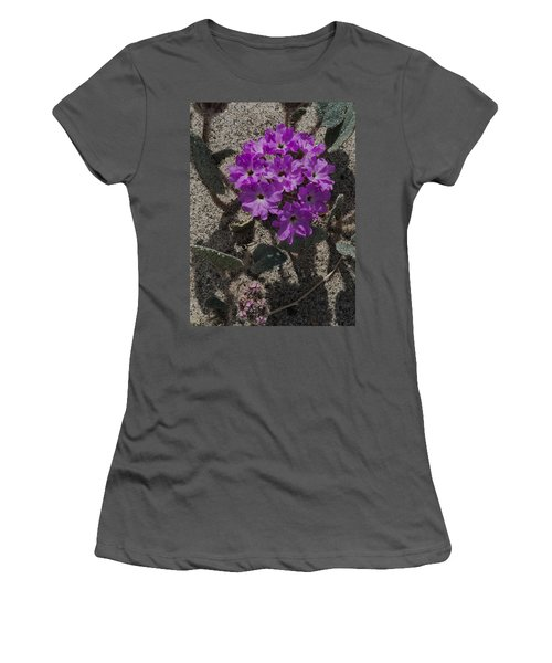 Violets In The Sand Women's T-Shirt (Athletic Fit)