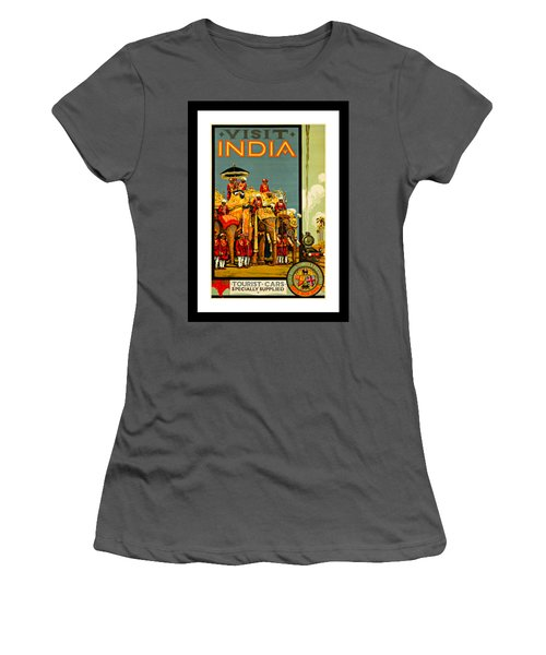 Visit India The Great Indian Peninsula Railway 1920s By A R Acott Women's T-Shirt (Junior Cut) by Peter Gumaer Ogden Collection