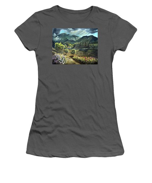Vista View Of Cannon Mountain Women's T-Shirt (Athletic Fit)