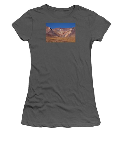 Volcano Crater In Siloli Desert Women's T-Shirt (Junior Cut) by Aivar Mikko