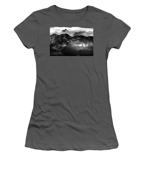 Women's T-Shirt (Junior Cut) featuring the photograph Volcano by Hayato Matsumoto