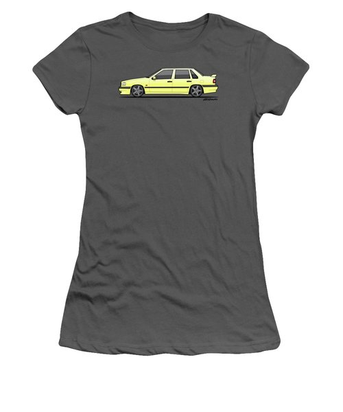 Volvo 850r 854r T5-r Creme Yellow Women's T-Shirt (Athletic Fit)