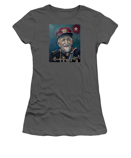 Women's T-Shirt (Junior Cut) featuring the painting Voulez Vous Un Pelske by Nop Briex