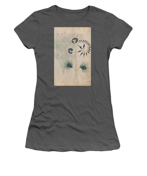 Voynich Flora 12 Women's T-Shirt (Athletic Fit)