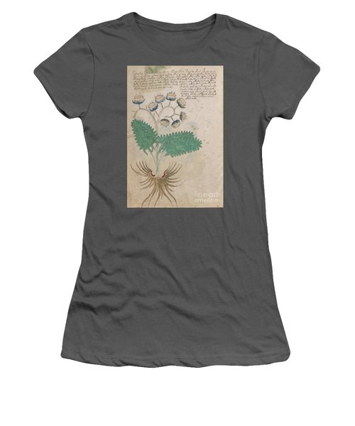 Voynich Flora 14 Women's T-Shirt (Athletic Fit)