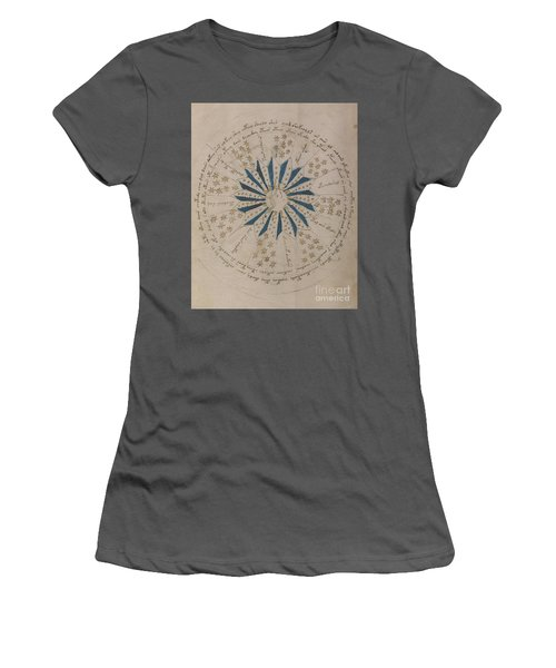 Voynich Manuscript Astro Rosette 1 Women's T-Shirt (Athletic Fit)