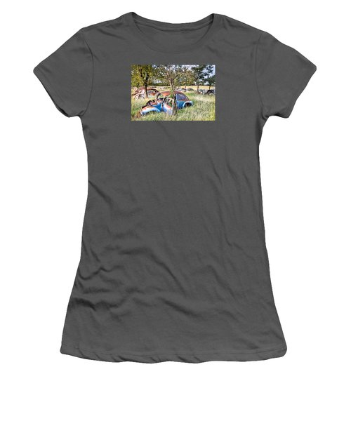 Women's T-Shirt (Junior Cut) featuring the photograph Vw Graveyard by Lawrence Burry