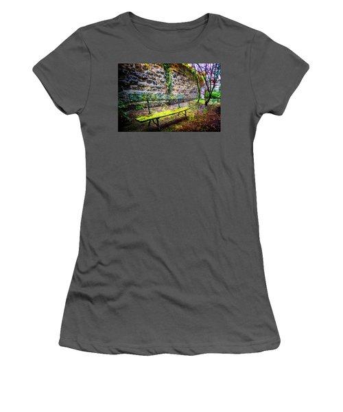 Women's T-Shirt (Junior Cut) featuring the photograph Waiting by Debra and Dave Vanderlaan