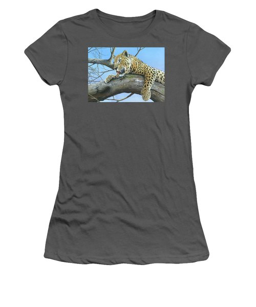 Women's T-Shirt (Junior Cut) featuring the painting Waiting Game by Mike Brown
