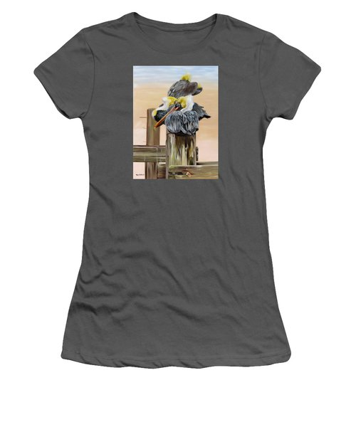 Waiting On The Tide Women's T-Shirt (Junior Cut) by Phyllis Beiser