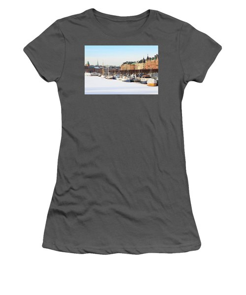 Women's T-Shirt (Athletic Fit) featuring the photograph Waiting Out Winter by David Chandler