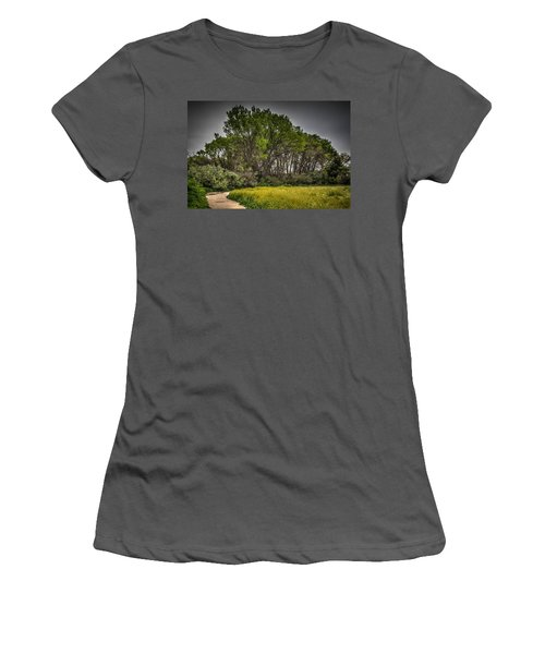 Walk In The Meadow In Spring Women's T-Shirt (Athletic Fit)