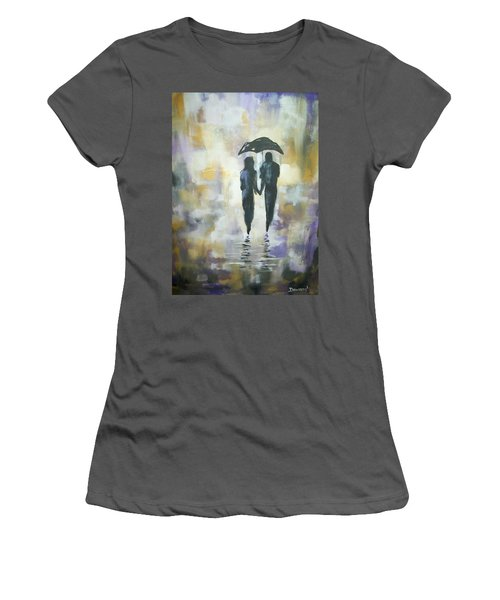 Walk In The Rain #3 Women's T-Shirt (Athletic Fit)