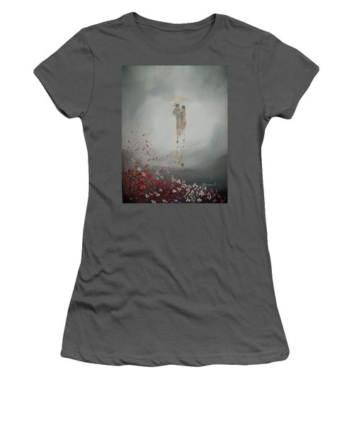 Walk In The Storm Women's T-Shirt (Athletic Fit)