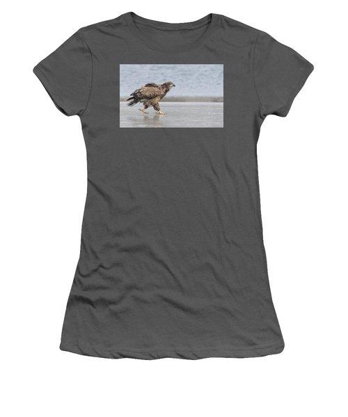 Walk Like An Eagle Women's T-Shirt (Junior Cut) by Kelly Marquardt