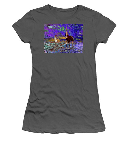 Walk The Enchanted Forest Women's T-Shirt (Athletic Fit)