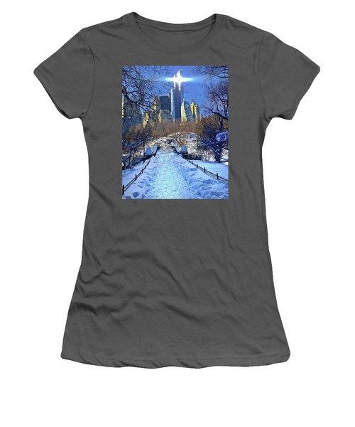Walk Thru Central Park Women's T-Shirt (Athletic Fit)