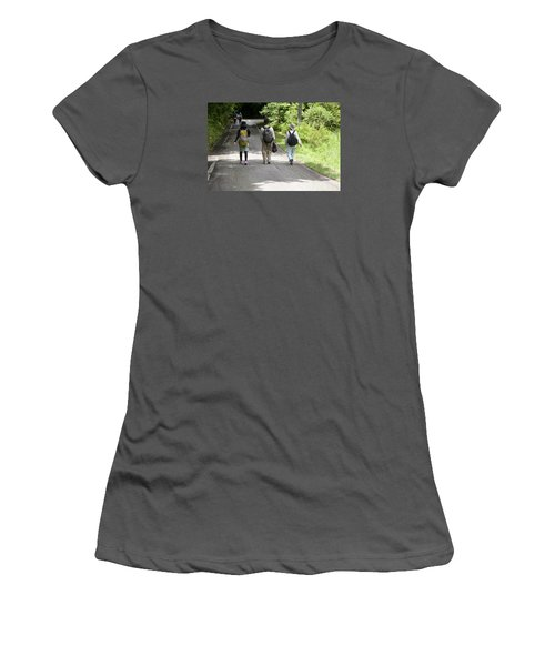 Walk Together Women's T-Shirt (Athletic Fit)
