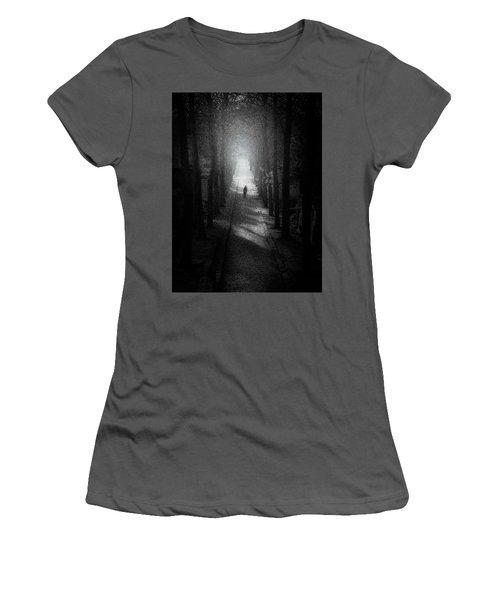 Walking Alone Women's T-Shirt (Junior Cut) by Celso Bressan