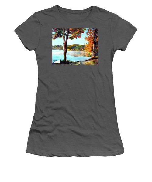 Walking Down Lake Champlain Women's T-Shirt (Athletic Fit)