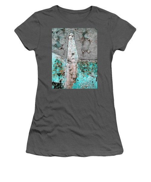 Women's T-Shirt (Junior Cut) featuring the photograph Wall Abstract 118 by Maria Huntley