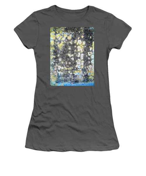 Women's T-Shirt (Junior Cut) featuring the photograph Wall Abstract 162 by Maria Huntley