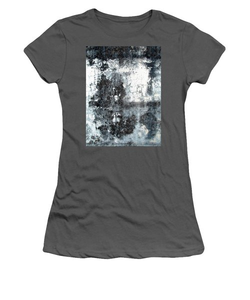 Women's T-Shirt (Junior Cut) featuring the photograph Wall Abstract 165 by Maria Huntley