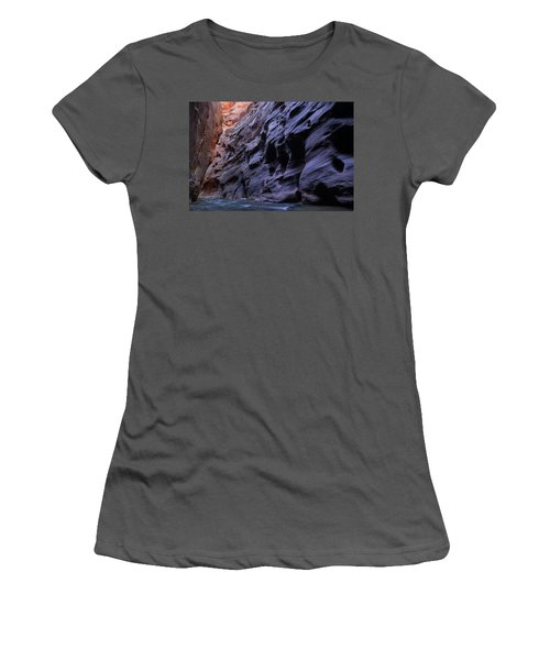 Wall Street At The Narrows At Zion National Park Women's T-Shirt (Athletic Fit)