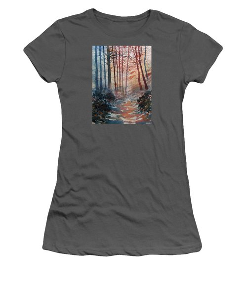 Wander In The Woods Women's T-Shirt (Athletic Fit)