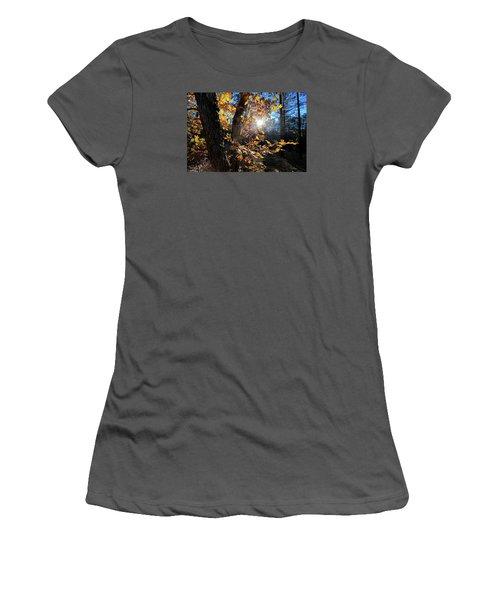 Women's T-Shirt (Junior Cut) featuring the photograph Waning Autumn by Gary Kaylor