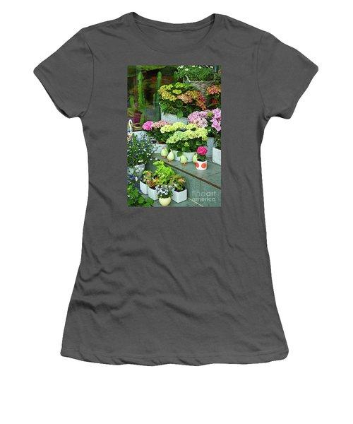 Warnemunde Flower Shop Women's T-Shirt (Junior Cut) by Eva Kaufman