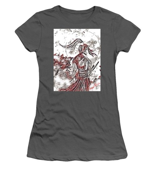 Warrior Moon Anime Women's T-Shirt (Athletic Fit)