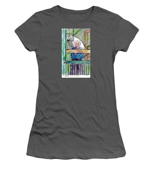 Watching To See If The Kids Are Coming Women's T-Shirt (Junior Cut) by Philip Bracco