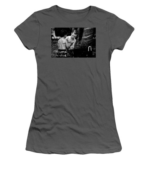 Water Balloon Women's T-Shirt (Junior Cut) by Kevin Cable