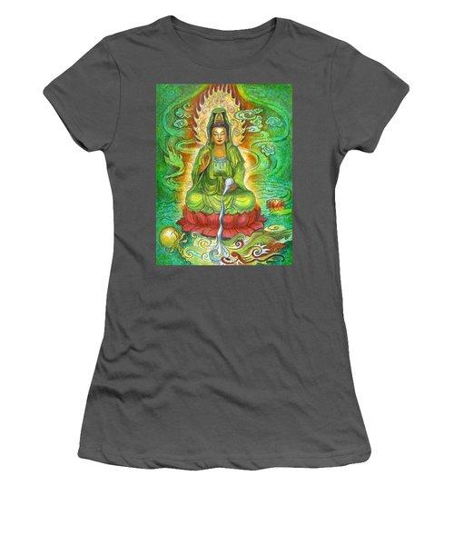 Water Dragon Kuan Yin Women's T-Shirt (Athletic Fit)
