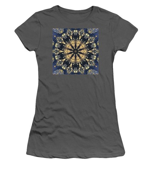 Women's T-Shirt (Athletic Fit) featuring the mixed media Water Glimmer 4 by Derek Gedney